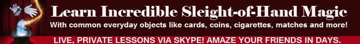 learn close up sleight of hand street magic tricks private lessons skype
